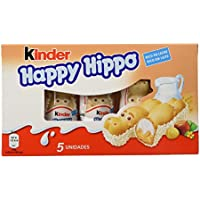 Kinder - Happy Hippo - Barritas de Chocolate - 5 unidades x 20.7 g