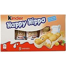 Kinder Happy Hippo Barritas de Chocolate - Pack de 5 x 20.7 g - Total: