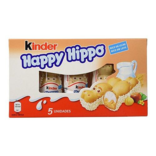 Kinder Happy Hippo Barritas de Chocolate - Pack de 5 x 20.7 g - Total: 103.5 g