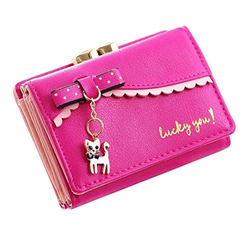 Preisvergleich Produktbild squarex Fashion Frauen Litschi Muster Wallet Messenger Bag Coin Tasche Karte Paket hot pink AS Show