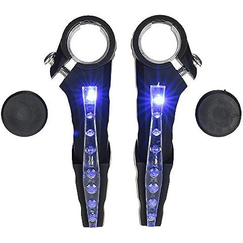 Docooler Luce Manubrio Bici Impermeabile LED che