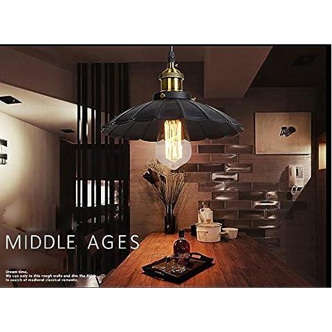 XIAOMINZI Retrò Vintage classico ferro Pot Lampadario industriale lampada 1-luce