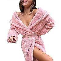 Yvelands Mujeres Abrigo de Invierno Mantener Cálido Prendas de Vestir Exteriores Suelte Cuello Grande Faux Fur Outwear Tops Blusa