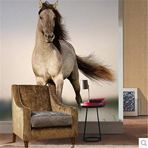 Lqwx  Para quarto Anpassen foto Tapete Tiere wallpaper Wandbild Wanmabenteng Beschleunigung Pferd...
