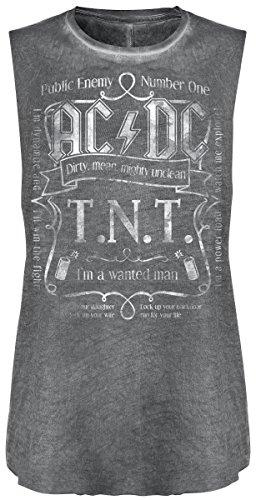 AC/DC T.N.T. Top Femme gris foncé gris foncé