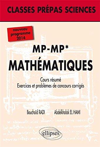 Mathématiques MP-MP* Programme 2014 Cou...
