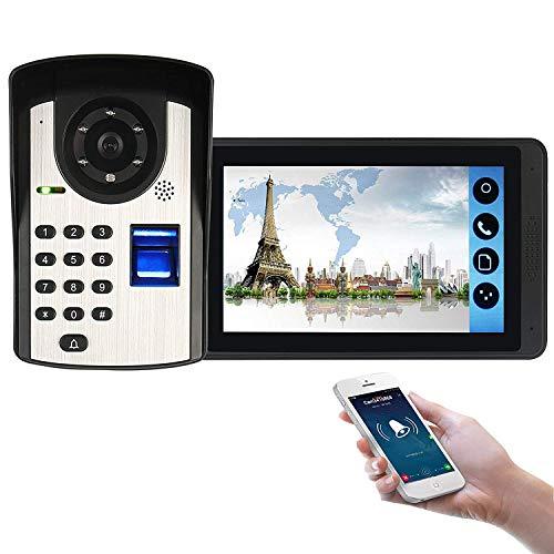 Video Türsprechanlage Türklingel Wifi Intercom System, Türsprechanlage mit 7 Zoll Monitor 1-Kamera Für 1-Familienhaus, Touch, Nachtsicht, Unterstützung automatisch Snapshot/Aufnahme, Model: MXB04 - Sharp Ccd Sensor