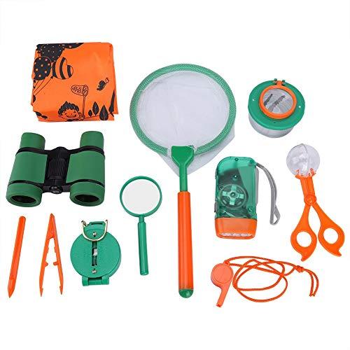 Kinder Outdoor Explorer Set, Kinder Super Abenteuer Spielzeug Kits mit Bug Viewer Fernglas Pfeife für Camping Lernen