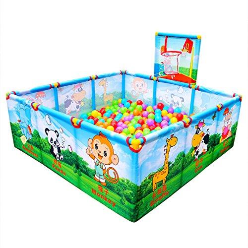 Laufgitter-ställe Baby Zaun Spielplatz 0-3 Jahre Alt Kinder Indoor-Spielplatz Kinderspielplatz/Baby Kinderspielzeug Baby Kleinkind Spielzeug Haus entwickeln Baby Intelligenz (mit Ball)