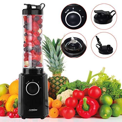 Licuadora de Vaso con Botella portátil Vital Way de Axsom, Licuadora Smoothie con Dos Velocidades, Batidora Portátil Libre de BPA