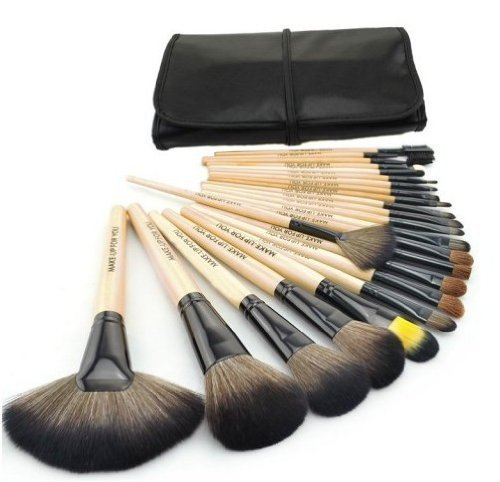 Wood Black 32pcs Kit Brush Lot Makeup Brushes Professional Cosmetic Make up Set by onfancy