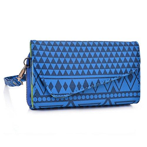 Kroo Pochette/étui style tribal urbain pour Vivo Grip Y11 Multicolore - Brun Multicolore - bleu marine
