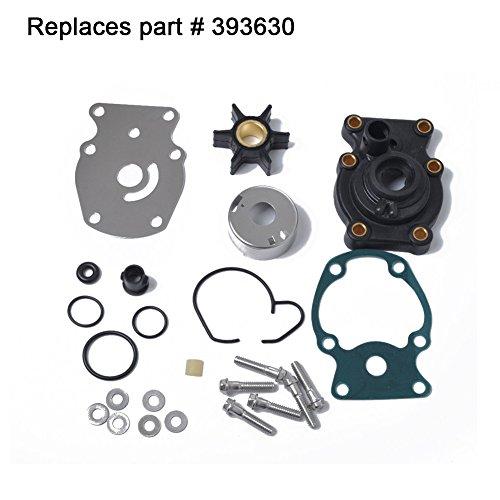 Réparation Pompe à eau, impeller Kit de réparation pour moto pour Johnson evinrude 20 25 30 35 HP Replaces 393630