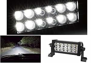 """PR Fog Light Bar Light 12 Led Auxiliary Light White Light Off-Roading 1pc(7""""approximate)-Honda Jazz Type 1 (2009-2010)"""