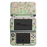 Nintendo New 3DS XL Case Skin Sticker aus Vinyl-Folie Aufkleber Leder Blumen Muster