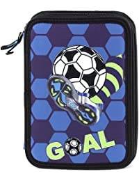 Goal Target Pencil Case Estuches, 22 cm, Azul (Blue)
