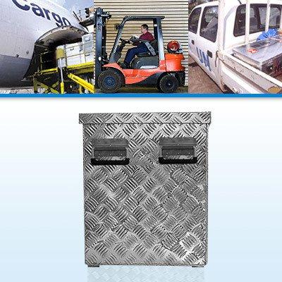 alutec R234 L Aluminium Riffelblech Werkzeug Transportkiste 77,2 x 52,4 x 64,5cm -