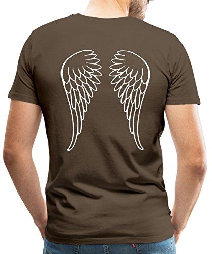 Spreadshirt Engel Flügel Männer T-Shirt, 5XL, Edelbraun (Göttliche Engel Kostüm)