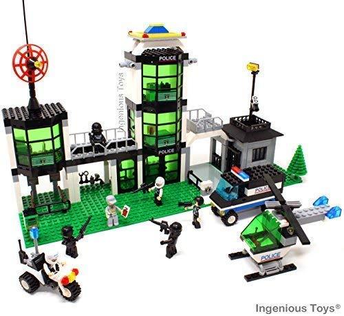 eistation mit Gefängnis und 7 Minifiguren 466 Teile - Passend Bau Block #A10 ()