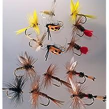 Pesca de moscas 14 mosca seca selección moscas Classic paquete #6