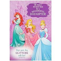 Hallmark Disney Prinzessin Tochter Geburtstagskarte SPARKLY Wish–Medium