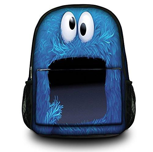 Rucksack / Rucksack von Funky Planet Grafik-Sammlung für die Schule Sports College (viele Entwürfe) (Cookie Monster) (Cookie Monster Rucksack)