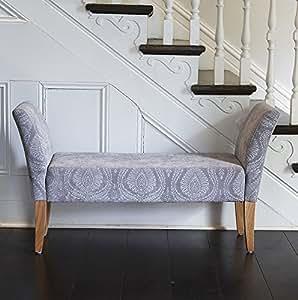 gris motif banc capitonn avec accoudoirs cuisine maison. Black Bedroom Furniture Sets. Home Design Ideas