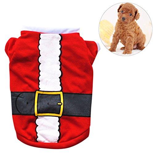 Pet Kleidung Schneemann Santa Claus Elf Pet Kostüm Kleidung für Weihnachten ()