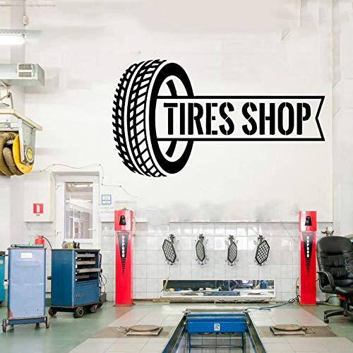 zqyjhkou Auto Reparatur Wandtattoos Dekor - Auto Service Reifen Montage Shop Auto Waschen Büro Studio Schaufenster Vinyl Aufkleber Cs18 75x42cm
