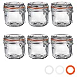 Argon Tableware Preserving/Jam Glass Storage Jars - 200ml - Pack of 6
