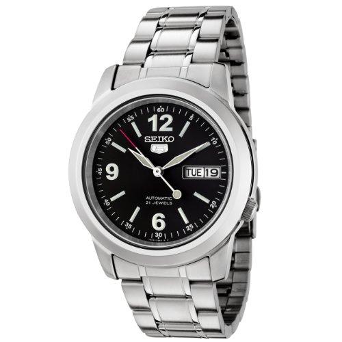 Seiko Herren-Armbanduhr XL Analog Automatik Edelstahl SNKE63