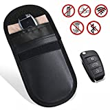 Car Key Signal Blocker Case, MONOJOY Signal Blocking Pouch Bag RFID Keyless Entry Fob Guard Faraday Bag Privacy Security EMF Protection WIFI/GSM/LTE/NFC Blocker (Black)