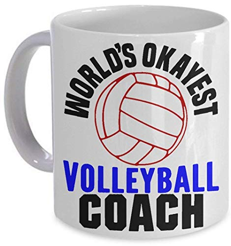 World's Okayest Volleyball Coach Mug Funny Gift Coffee Cup
