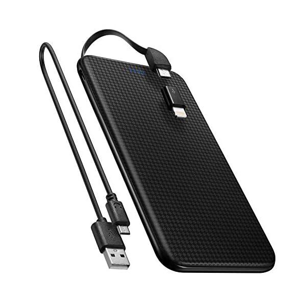 Spigen Super Ultra Sottile 5,000 mAh Caricabatterie Portatile USB Ricarica con Cavo a 8 Pin & Micro USB 5 Pin Power Bank… 1 spesavip