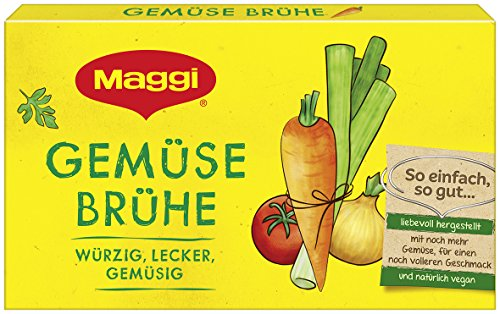 Maggi Klare Gemüsebrühe 8 Würfel, 180 g (ergibt 8 x 1 l)