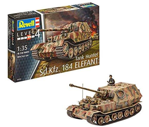 Revell-Revell-24,2 cm SD. KFZ. 184 Tanque Hunter Elefant Kit Modelo, Escala 1:35...