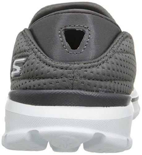 Skechers Go Walk 3 Unfold, Sneakers basses femme Grey (Charcoal)