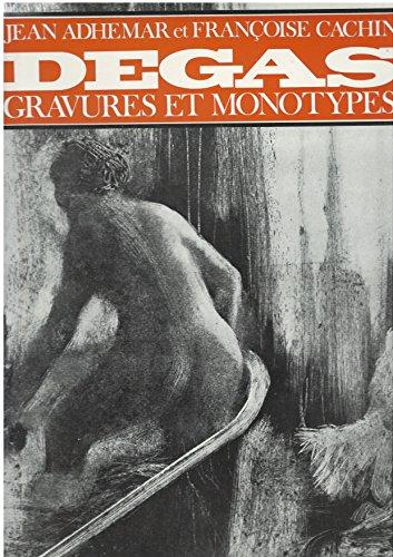 Edgar degas. gravures et monotypes.