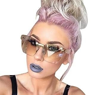 Gaddrt Women Unisex Fashion Chic Shades Acetate Frame UV Glasses Sunglasses (Coffee)