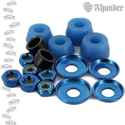 Rebuild Kit Thunder Achse, 95A blau, Hülsen, Unterlegscheiben und Muttern