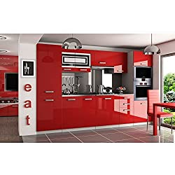 JUSTyou Syntka Pro Cocina completa 300 cm Color: Rojo Brillante