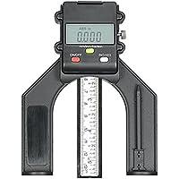 Calibre de profundidad digital, KKmoon 0–130mm Digital LCD gráfico altura calibre de profundidad mesa sierra altura calibre con tres medidas unidades de cierre tornillo para madera mesa de router