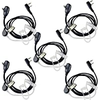 Retevis Kit Bodyguard Auricular Transparente Antirruido Con Micrófono PTT para Walkie-talkis KENWOOD PUXING QUANSHENG TYT HYT BAOFENG BF-888S UV5R H777(5 packs)