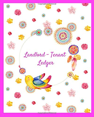Landlord - Tenant Ledger: Your 12 Month Logbook Journal to Record 50 Rental Units / With 50 Maintenance / Notes / Stay Organized For Taxes / With a Pink Cover With Pretty Design