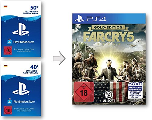 PSN Guthaben Aufstockung für Far Cry 5 Gold - PSN Guthaben Far Cry 5 Gold Edition | PS4 Download Code - deutsches Konto