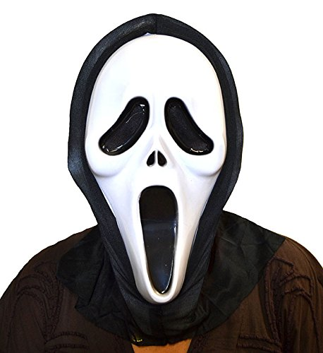 careta scream plástico con capucha