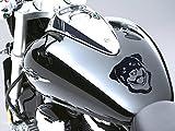Rottweiler Motorrad Fuel Tank Aufkleber Auto Aufkleber 100mm x 110mm–graphit schwarz