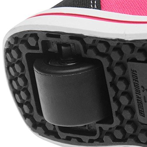 Sidewalk Sport Kinder Maedchen Canvas Turnschuhe Rollenschuhe Sneaker Mit Rollen Schwarz/Pink