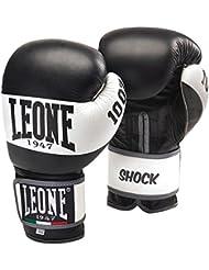 Leone 1947 Guantes de boxeo, modelo Shock negro negro Talla:16 Oz