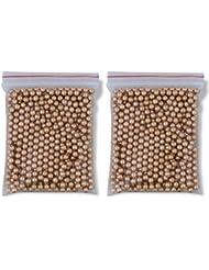 Outletdelocio. Pack 2 bolsas de 500 Bolas metálicas acero BB Golden Ball 4,5 mm 0,37 g (Total 1000 bolas)